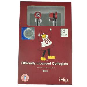 NCAA South Carolina Gamecocks iHip Earphones Headphones Music Loud Audio MP3