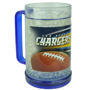 NFL San Diego Chargers 16oz Color Freezer Mug Crushed Ice Beer Drinks Cup Sports