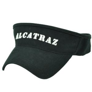 Alcatraz Island The Rock Prison California Sun Visor Black Hat State City Cali
