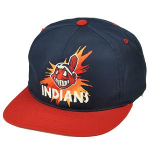 Cleveland Indians Deadstock Vintage Old School Snapback Baseball Hat Cap Splash