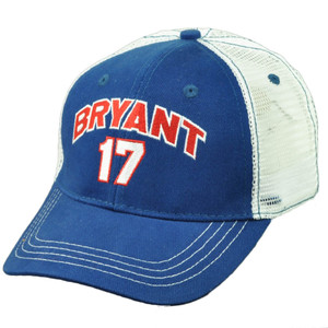 Chicago Cubs Kris Bryant 17 Player Blue Mens Mesh Snapback Hat Cap Baseball