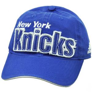 NBA New York Knicks ET34 Slouch Royal Blue Hat Cap Relaxed Sun Buckle Sports