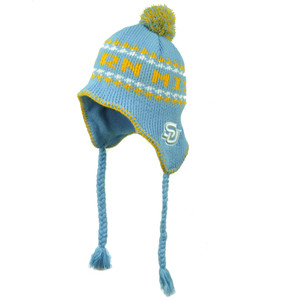 NCAA Southern Jaguars Top of The World Pom Pom Knit Beanie Blue Braided Tassel