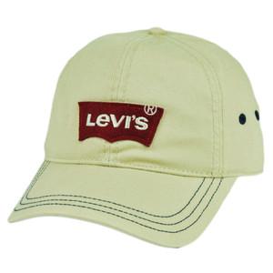 Levis Famous Jeans Denim Logo Applique  Beige Hat Cap Slouch Relaxed