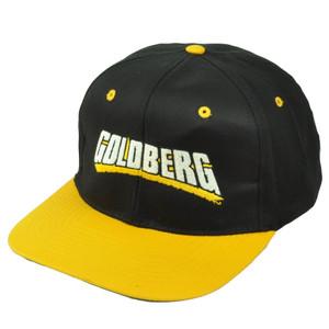Goldberg WWE Wrestling Entertainment Black Yellow Snapback Hat Cap Flat Bill