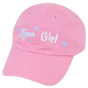 MLB Detroit Tigers Girl Pink Chino Women Ladies Clip Buckle Garment Wash Hat Cap