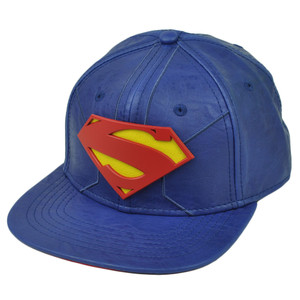DC Comics Book Superman Man of Steel Hero Snapback Flat Bill Hat Cap Suit Up