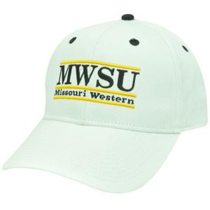 HAT CAP MISSOURI WESTERN MWSU GRIFFON RETRO BAR NCAA SNAPBACK WHITE BLACK YELLOW
