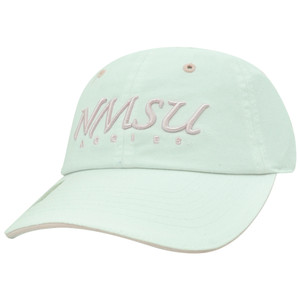 NCAA Aggies New Mexico State Ladies Cut Garment Washed Sun Buckle White Hat Cap