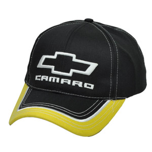 Camaro General Motors Car GMC Black Automobile Hat Cap Racing Chevy Adjustable