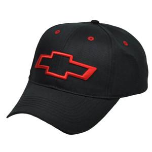 Chevrolet Chevy Black Red General Motors Trucks Car Automobile Racing Hat Cap