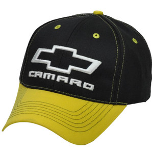 Camaro Chevrolet Black Yellow Adjustable Hat Cap Cars Automobile General Motors