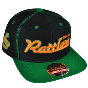 NCAA AACA American Needle Florida A&M Rattlers Black Snapback Traxside Hat Cap