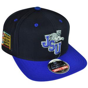 NCAA AACA American Needle Jacksonville Tigers Black Snapback Blockhead Hat Cap