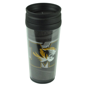 NCAA Missouri Tigers Acrylic Travel Tumbler 16Oz Mug Coffee Drink Cup Liquid Fan