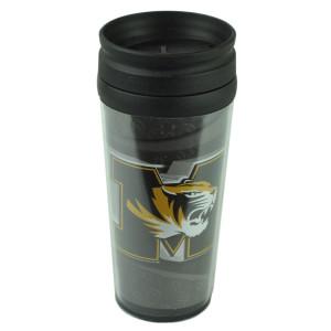 NCAA Missouri Tigers Acrylic Travel Tumbler 16Oz Mug Coffee Drink Cup Liquid Fan