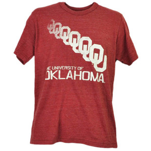 NCAA Oklahoma Sooners Repeat Logo Burgundy Tshirt Tee Mens Short Sleeve Adult