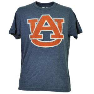 NCAA Auburn Tigers Distressed Logo Tshirt Tee Mens Adult Short Sleeve Sports