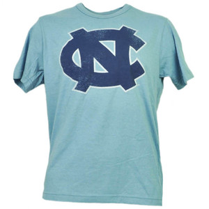 NCAA North Carolina Tar Heels Baby Blue Short Sleeve Tshirt Tee Mens Adult Sport