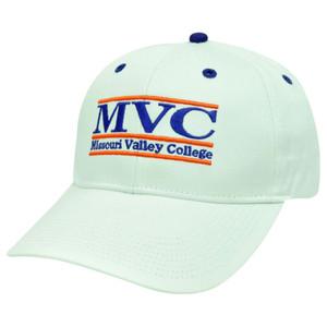 HAT CAP MISSOURI VALLEY COLLEGE MVC RETRO BAR SNAPBACK NCAA WHITE PURPLE VIKINGS