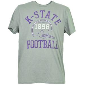NCAA Kansas State Wildcats Helmet Football Tshirt Tee Short Sleeve Mens Adult