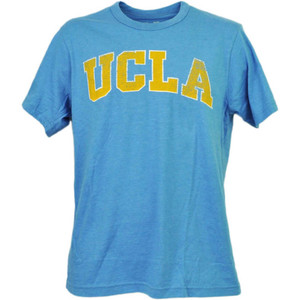 NCAA UCLA Bruins Distressed Logo Tshirt Tee Blue Short Sleeve Mens Adult Sports