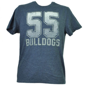 NCAA Butler Bulldogs Felt 55 Short Sleeve Mens Tshirt Tee Blue Crew Neck Sports