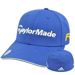 Adidas Ashworth Golf Hat Cap Penta Taylor Made R11 Blue Stretch Flex Fit S/M