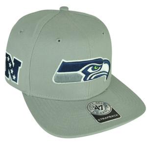 NFL '47 Brand Forty Seven Seattle Seahawks Super Shot Strapback Flat Bill Hat
