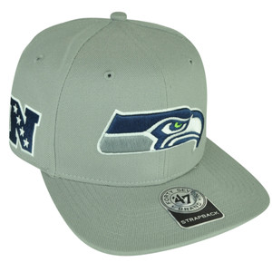 NFL '47 Brand Forty Seven Seattle Seahawks Super Shot Strapback Flat Bill Hat