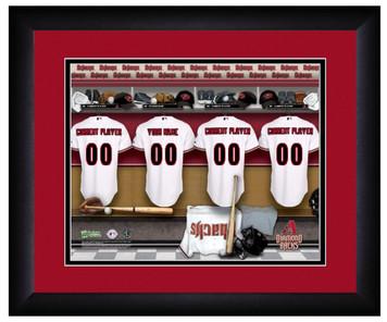 MLB Personalized Locker Room Print Black Frame Customized Arizona Diamondbacks