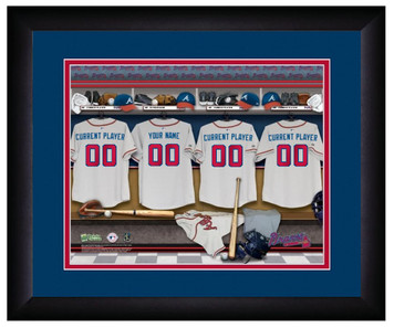 MLB Personalized Locker Room Print Black Frame Customized Atlanta Braves