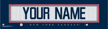 MLB Official Personalized Stitched Jersey Print Black Framed New York Yankees