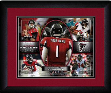 NFL Personalized Action Collage Print Black Frame Customized Atlanta Falcons