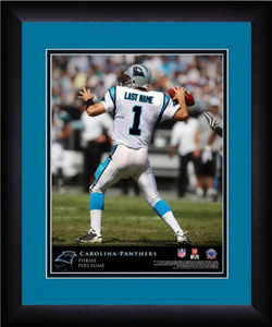 NFL Personalized Quarterback Action Print Framed Customized Carolina Panthers