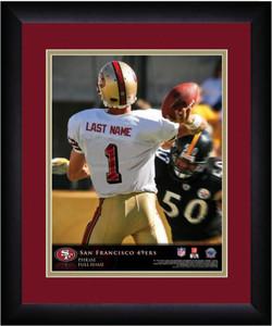 NFL Personalized Quarterback Action Print Black Frame Custom San Francisco 49ers