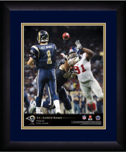 NFL Personalized Quarterback Action Print Black Frame Customized St Louis Rams