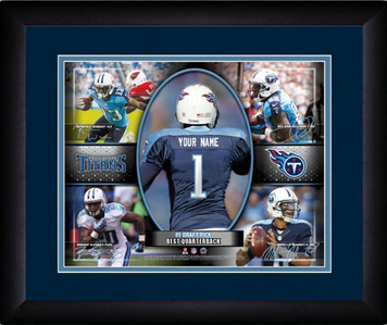 NFL Personalized Blue Action Collage Print Black Frame Custom Tennessee Titans
