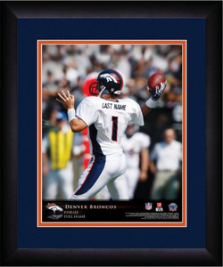 NFL Personalized Quarterback Action Print Black Frame Customized Denver Broncos