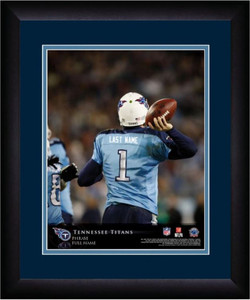 NFL Personalized Quarterback Action Print Black Frame Custom Tennessee Titans