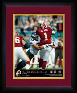 NFL Personalized Quarterback Action Print Black Frame Customized Washington Reds