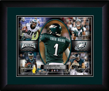 NFL Personalized Action Collage Print Black Frame Custom Philadelphia Eagles