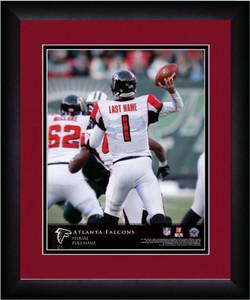 NFL Personalized Quarterback Action Print Black Frame Customized Atlanta Falcons