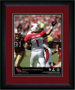 NFL Personalized Quarterback Action Print Black Frame Custom Arizona Cardinals