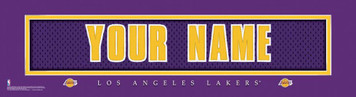 NBA Los Angeles Lakers Official Personalized League Jersey Stitch Print Framed