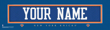 NBA New York Knicks Official Personalize League Jersey Stitch Print Black Framed