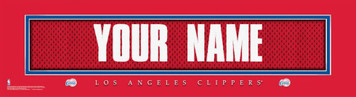 NBA LA Clippers Official Personalized League Jersey Stitch Print Black Framed