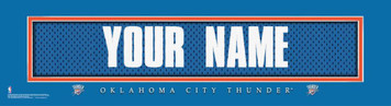 NBA Oklahoma City Thunder Official Personalized League Jersey Stitch Print Frame