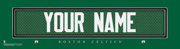 NBA Boston Celtics Official Personalized League Jersey Stitch Print Black Framed