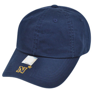 NCAA American Needle Navy Midshipmen Army Flambam Blank Velcro Relaxed Hat Cap